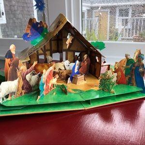 Vintage Pop-Up Nativity Scene